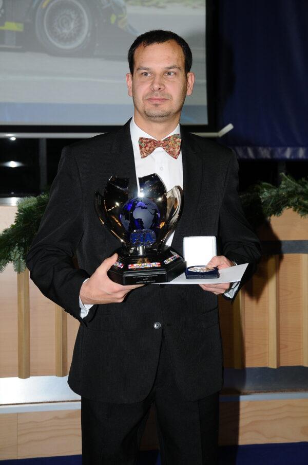 Michl Dan Siegerfeier FIA European Hill-Climb Championship