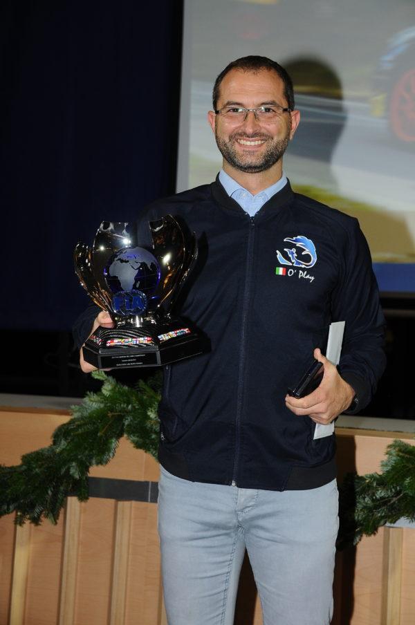 Migliuolo Antonino Siegerfeier FIA European Hill-Climb Championship